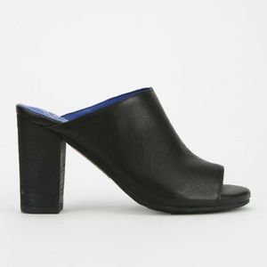JEFFREY CAMPBELL 'Druid' Peep Toe Mule in Black
